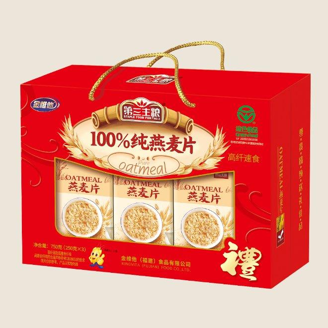 100%纯燕麦片 750g盒
